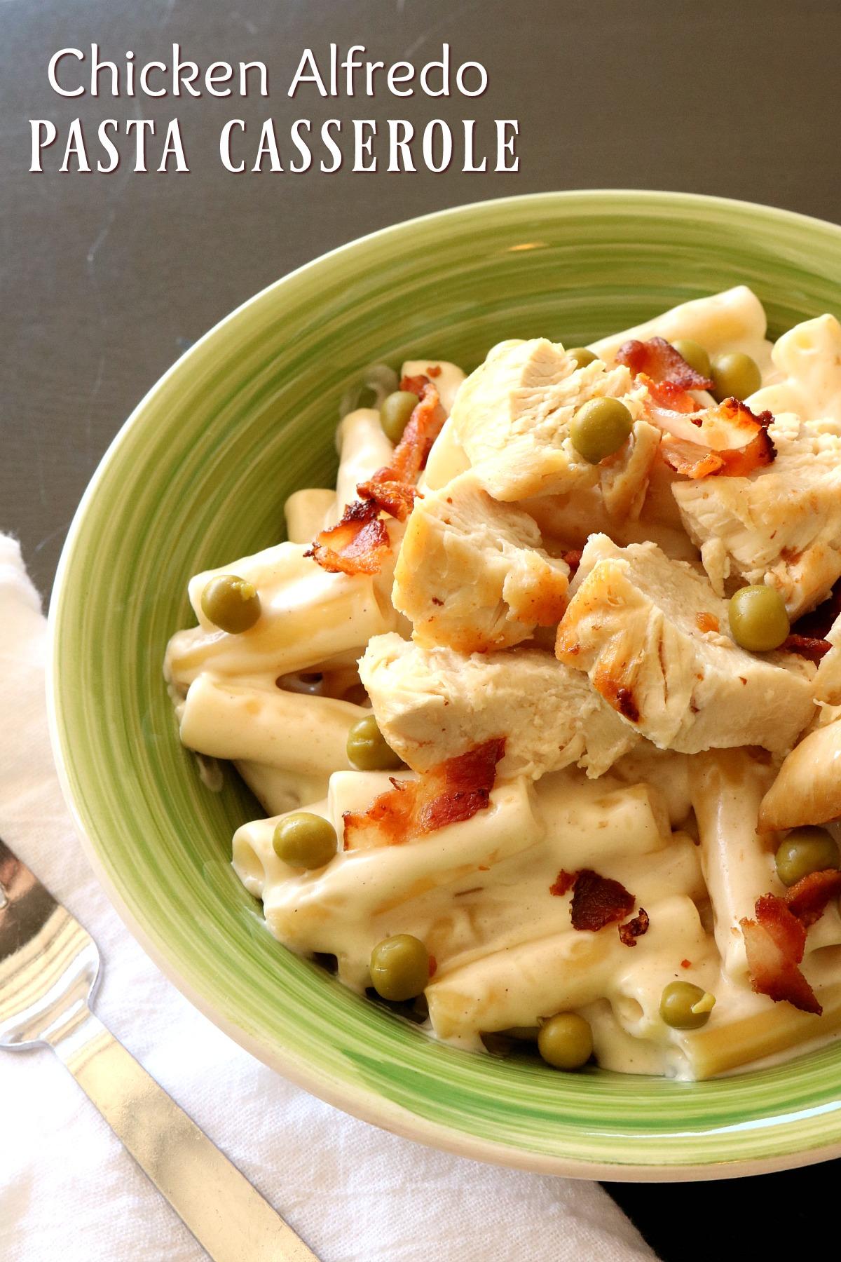 Chicken Alfredo Pasta Casserole from 5DollarDinners.com