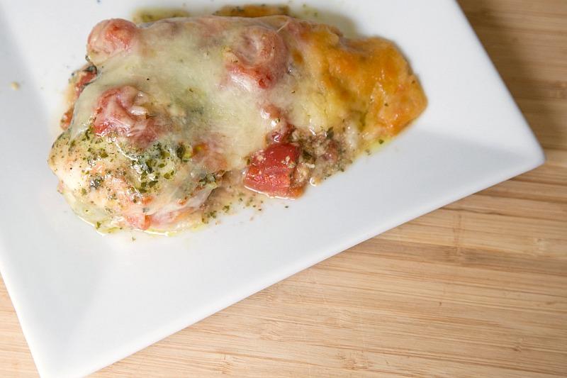 Freezer Friendly Pesto Chicken Bake Recipe from 5DollarDinners.com