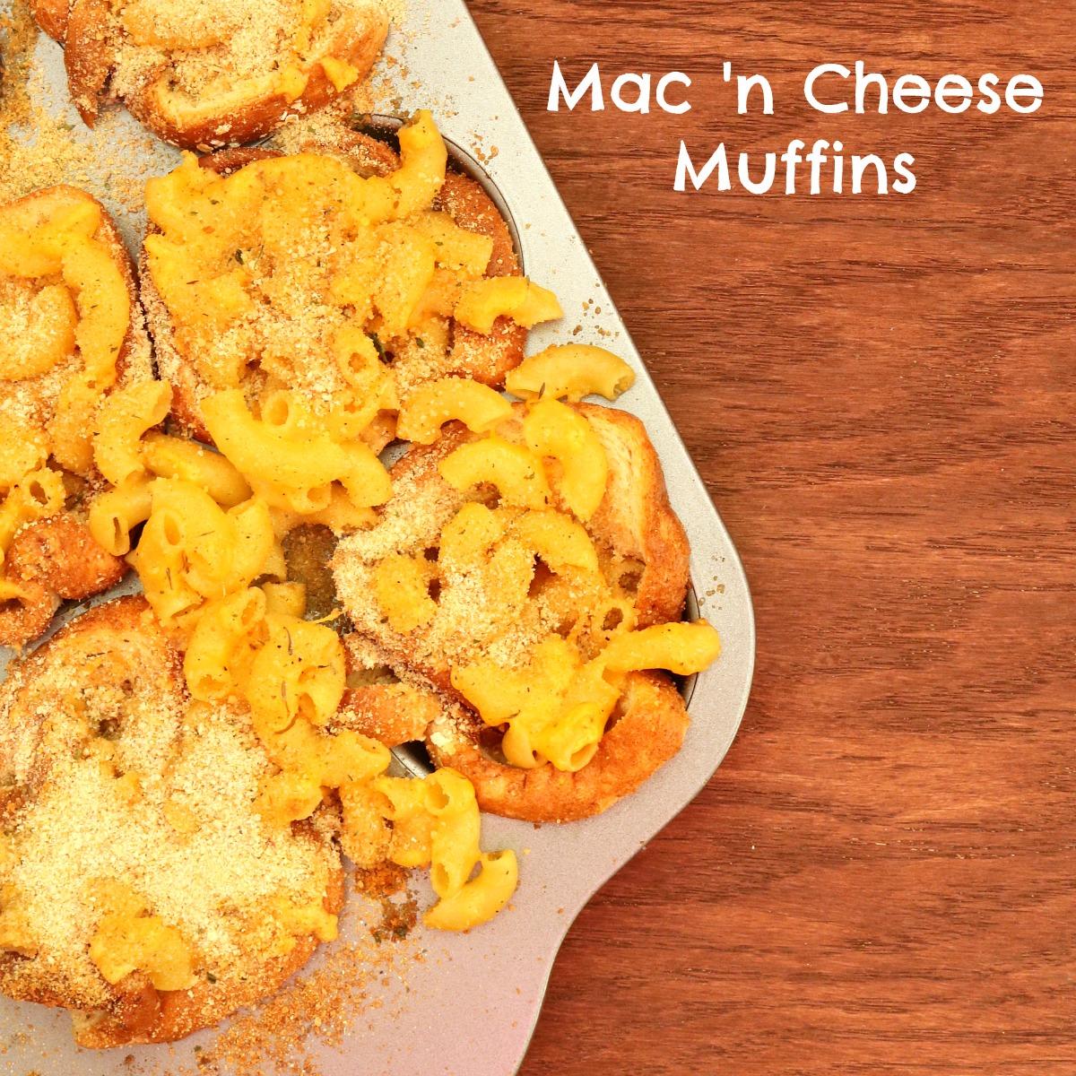 Mac n Cheese Muffins ~ kid friendly recipe from 5DollarDinners.com