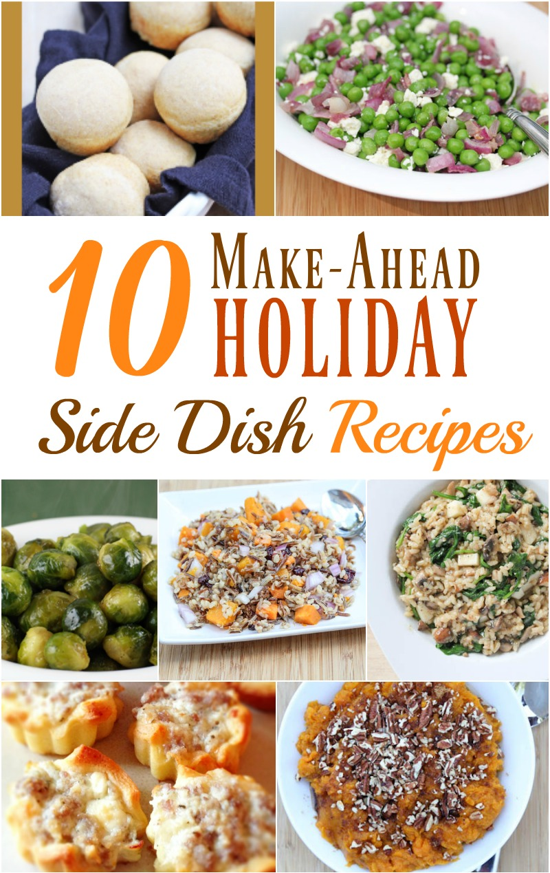 10 Make Ahead Holiday Side Dish Recipes from 5DollarDinners