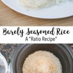 Barely Seasoned Rice ~ Simple Side Dish