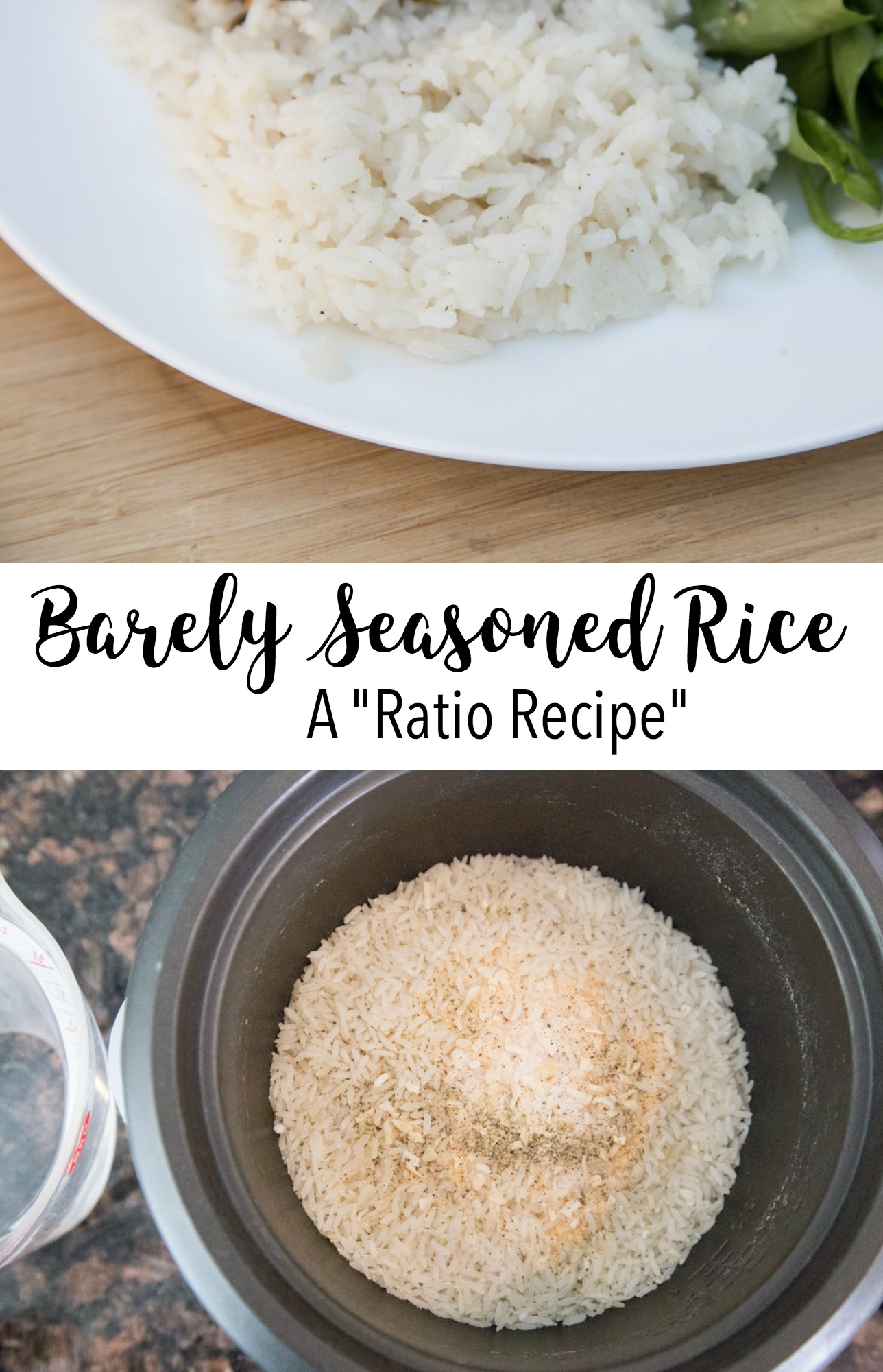 barely seasoned rice ratio recipe