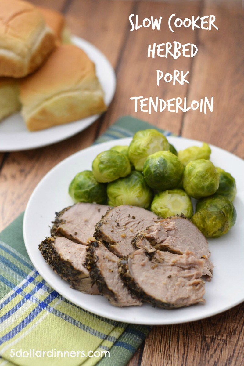 slow cooker herbed pork tenderloin