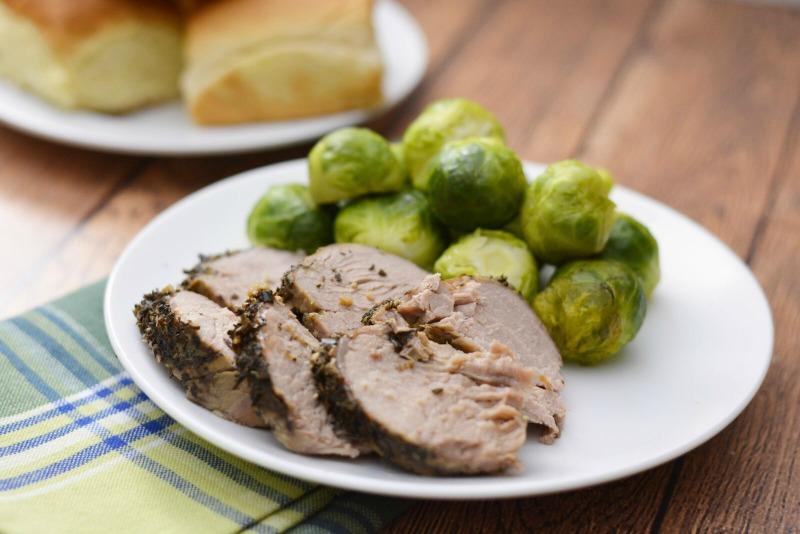 slow cooker herbed pork tenderloin