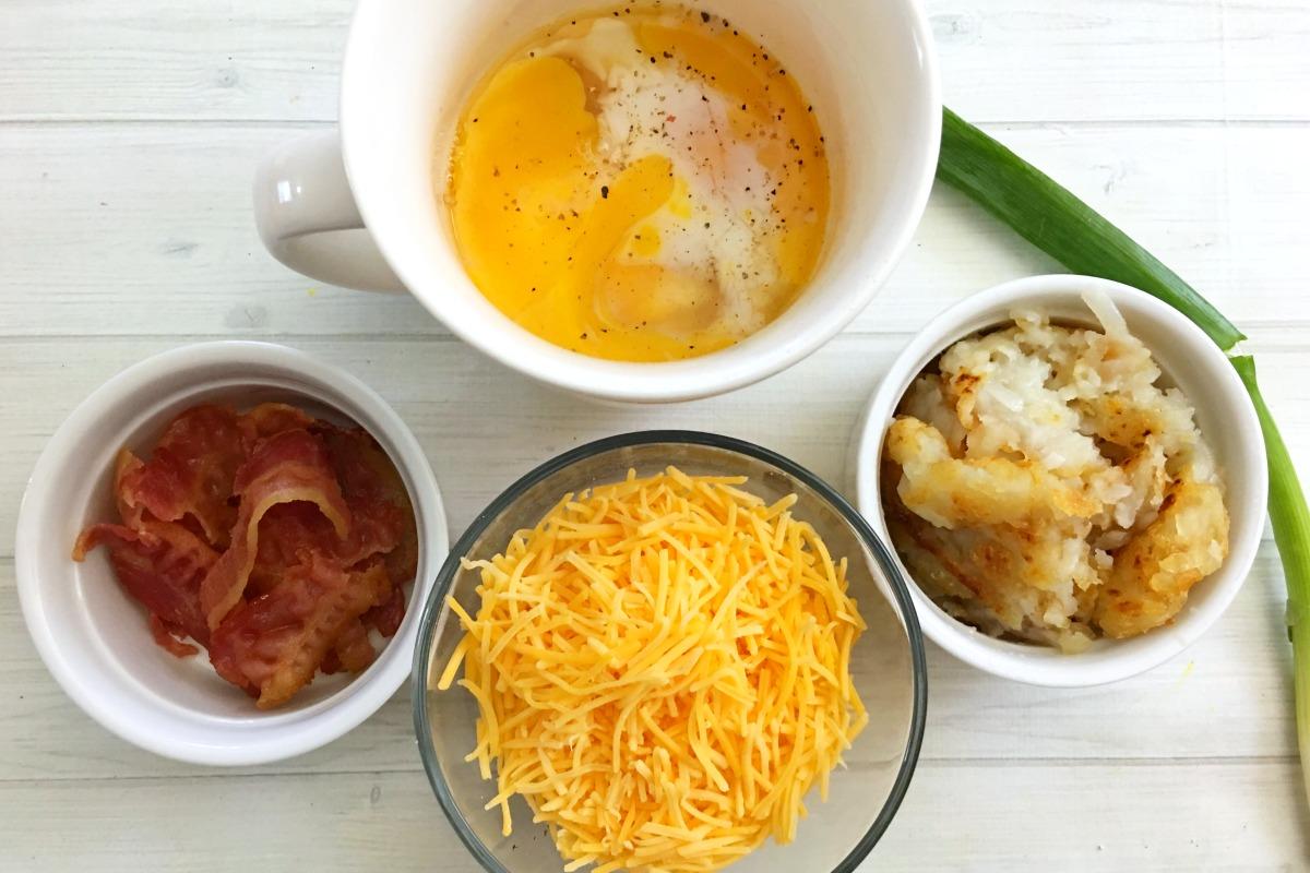 Loaded Potato Breakfast Omelet in a Mug Recipe from 5DollarDinners.com