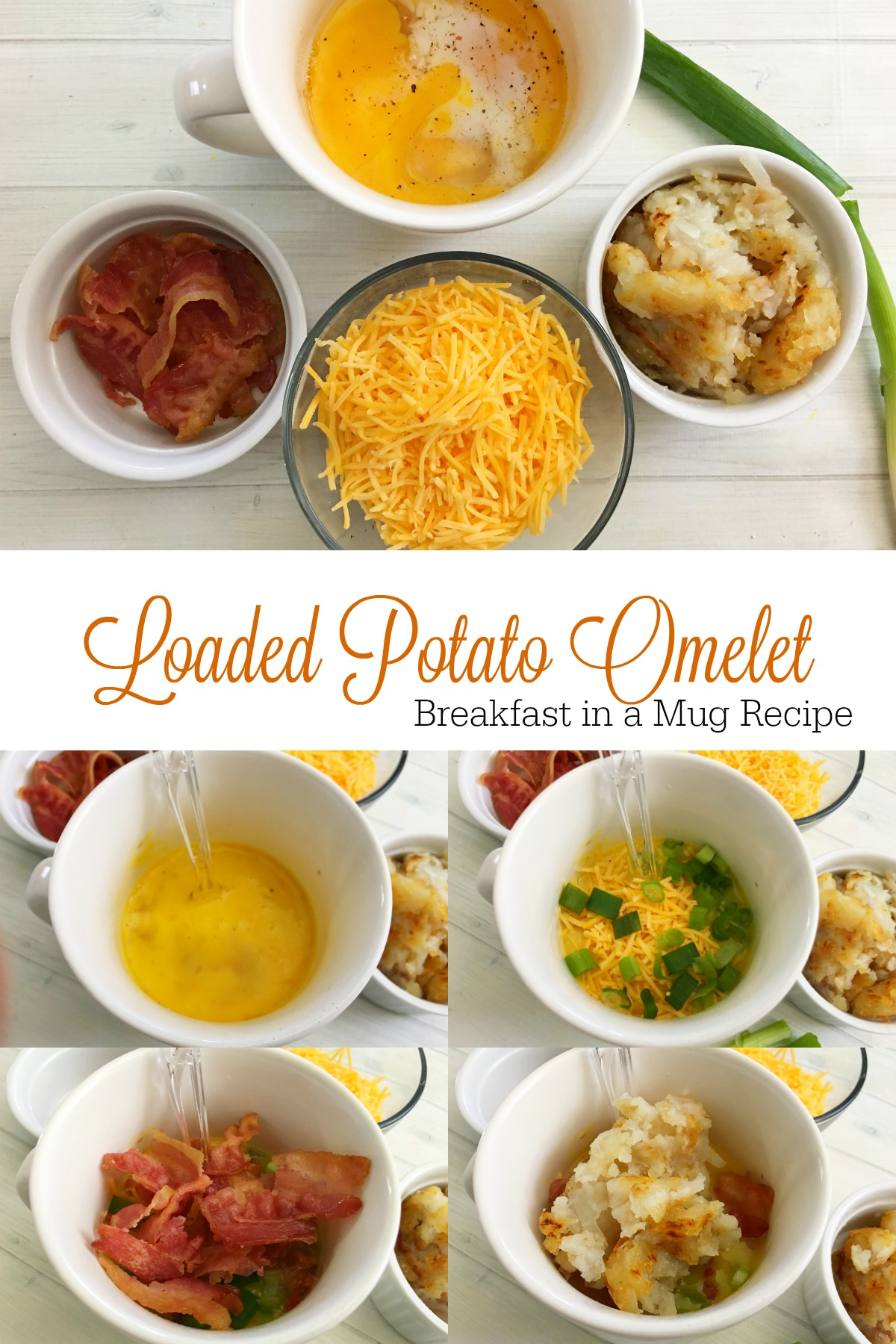 Loaded Potato Breakfast Omelet in a Mug