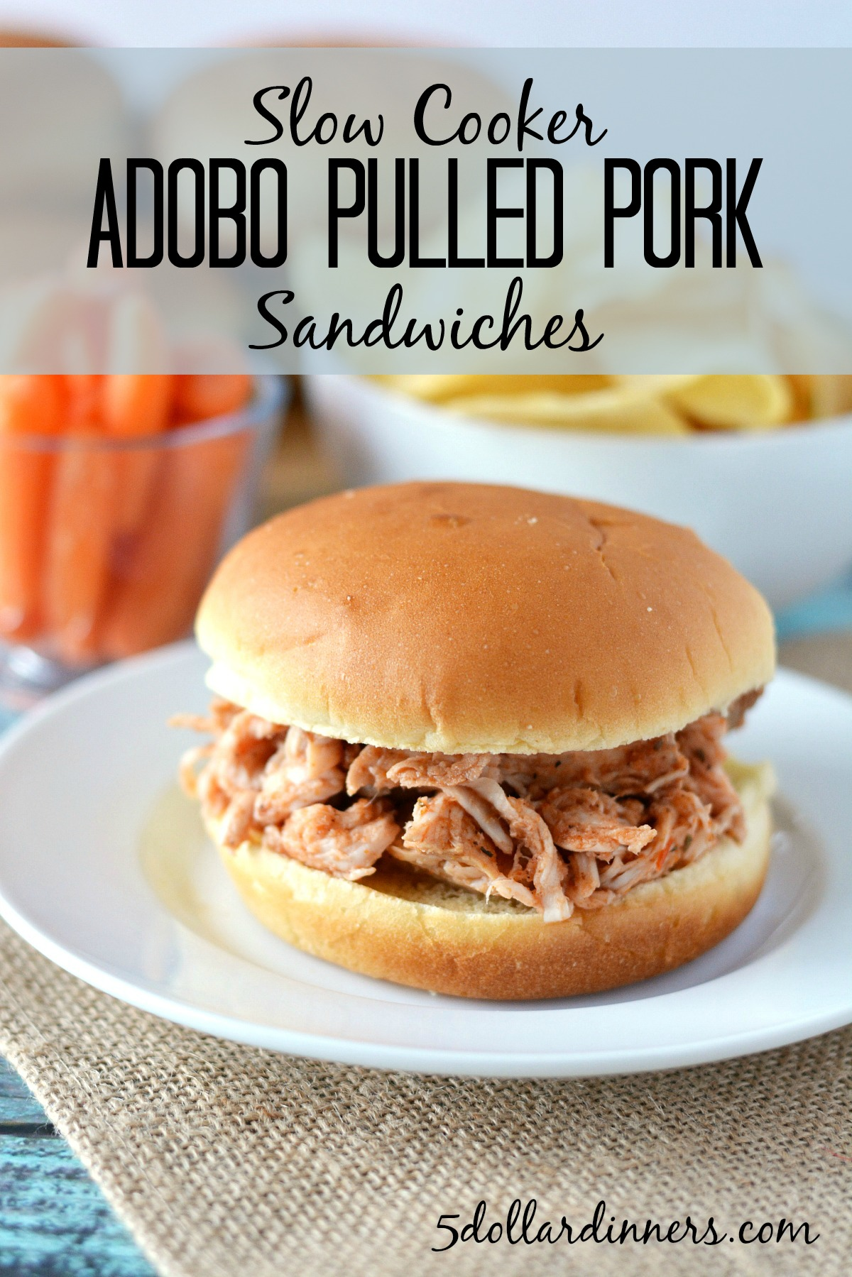 adobo pulled pork sandwiches