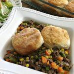 Beef & Veggie Biscuit Pot Pie_4