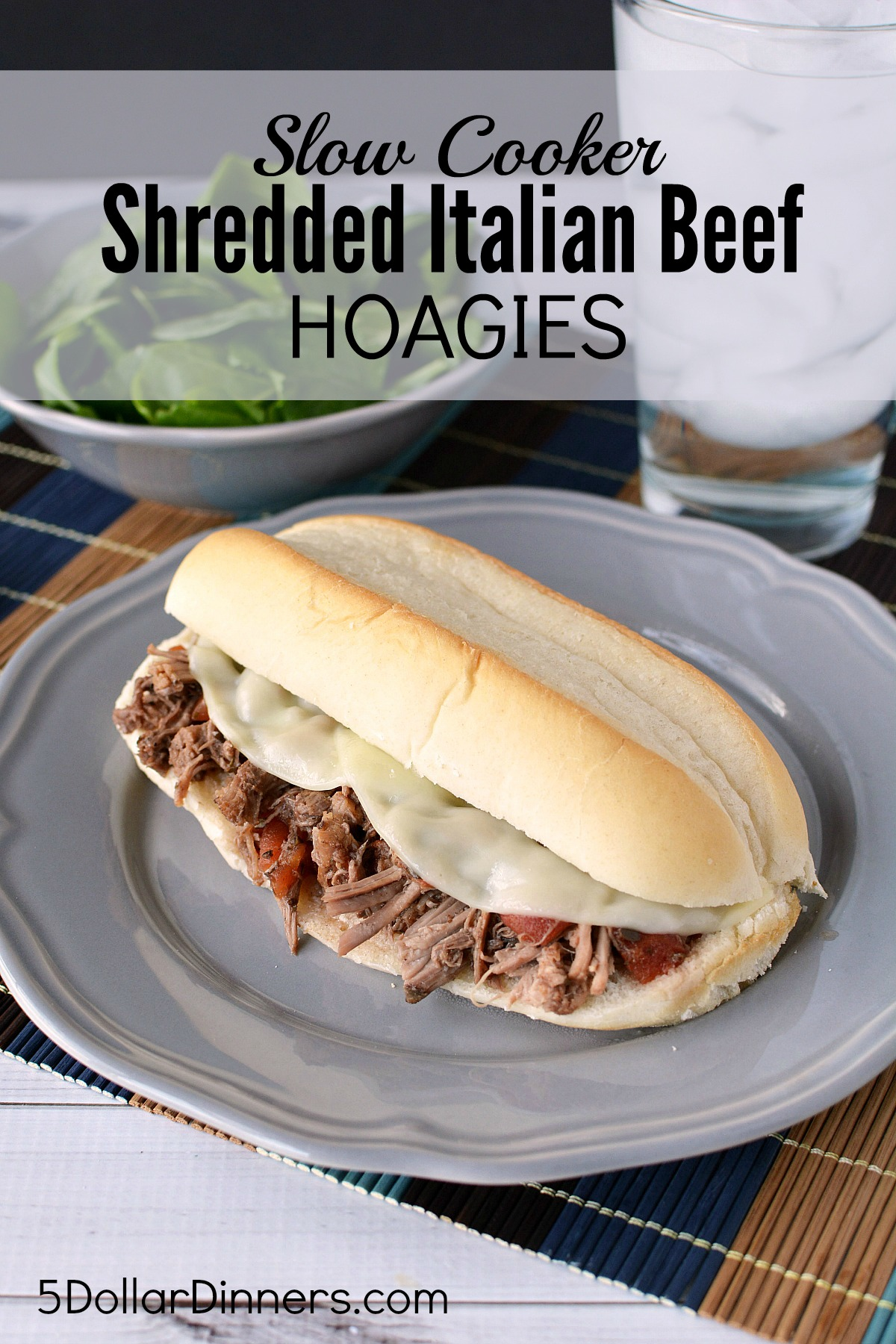 Italian Shredded Beef Hoagies