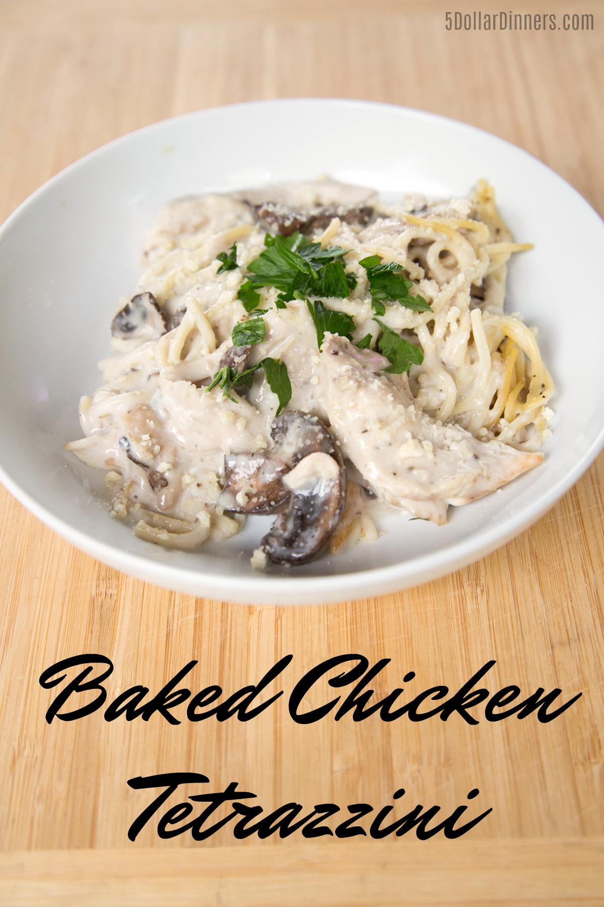 Baked Chicken Tetrazzini