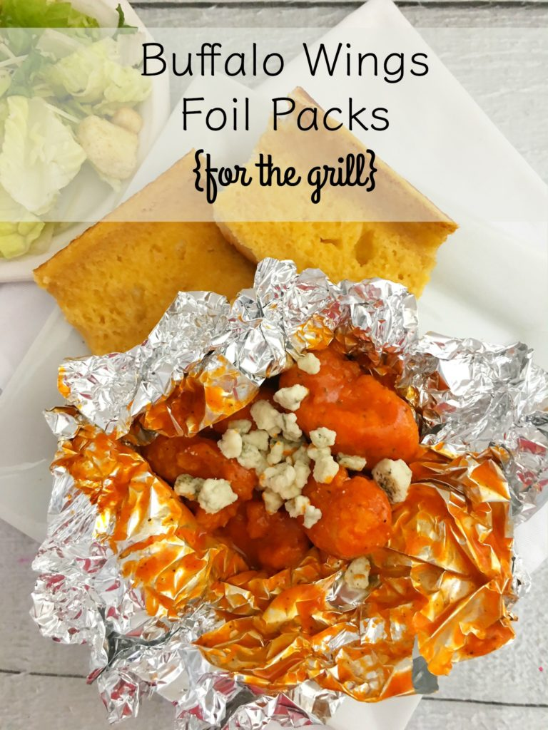 buffalo wing foil packs for the grill