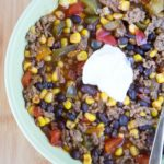 Instant Pot Beef & Black Bean Chili