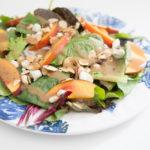 Peach, Almond, Blue Cheese Salad