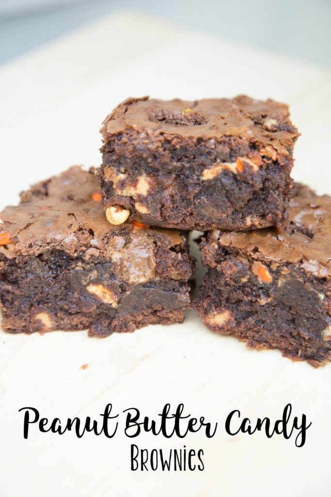 peanut butter candy brownies