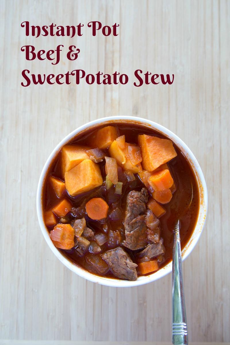 instant pot beef & sweet potato stew