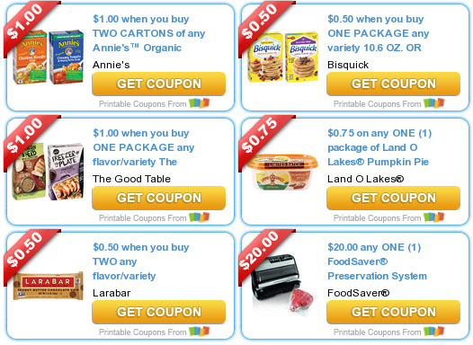Annie's Organic Soup, Bisquick, Land O Lakes Pumpkin Pie Spice Butter Spread + More – Printable Coupons