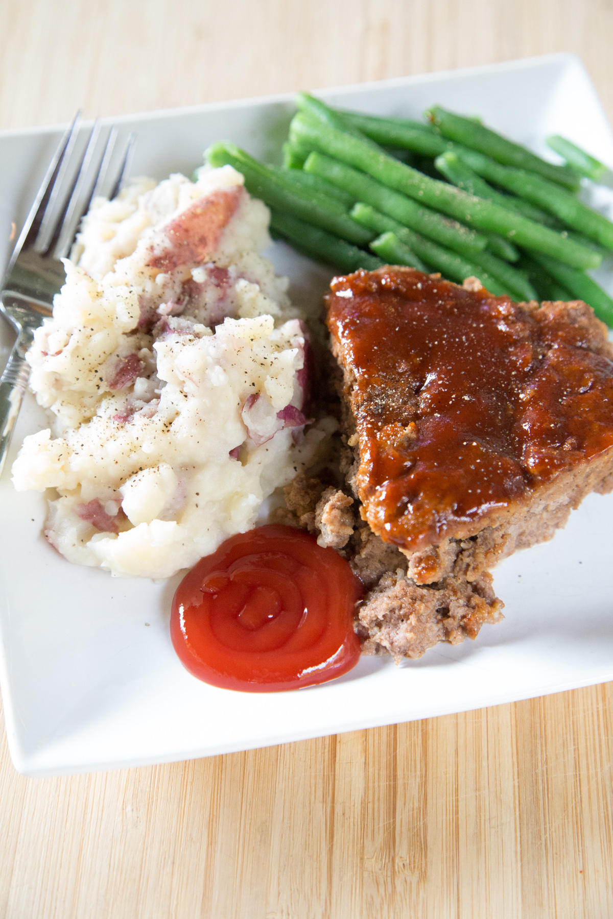 instant pot bbq meatloaf with mashed potatoes
