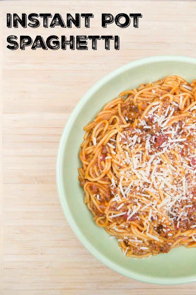 Instant Pot One-Pot Spaghetti with Sauce
