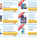 Betty Crocker Cookie Mixes,Progresso Bread Crumbs,PurellHand Sanitizer + More- Printable Coupons
