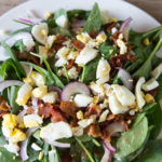 Bacon & Spinach Salad with Homemade Dressing