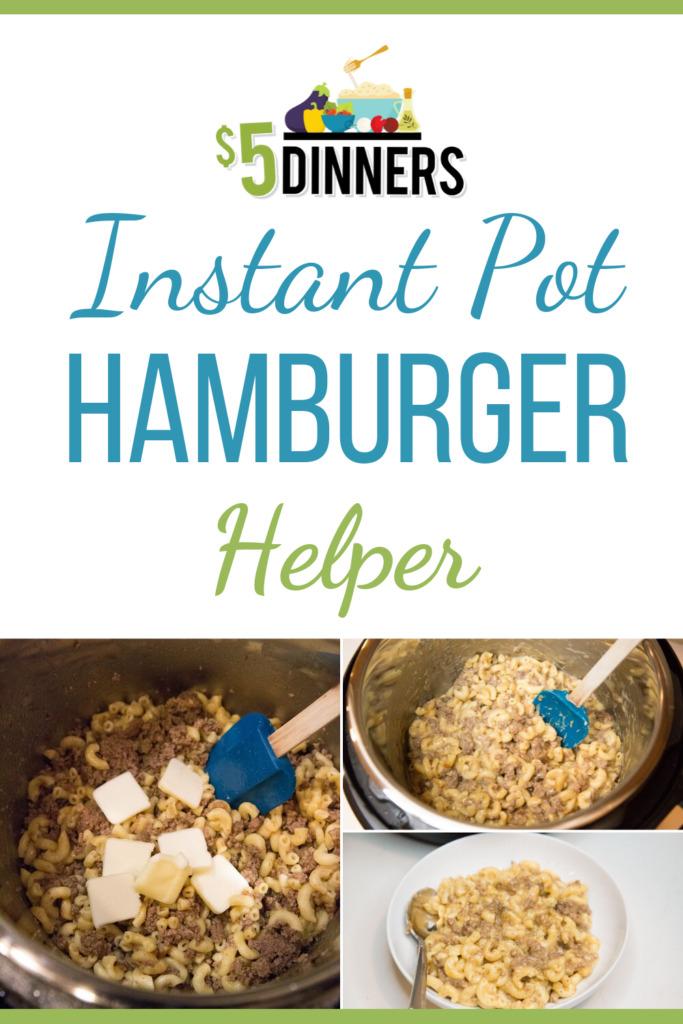 instant pot hamburger helper recipe