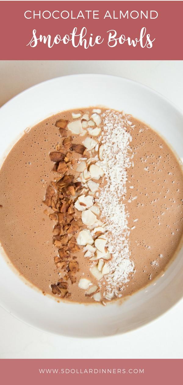 chocolate almond smoothie bowls