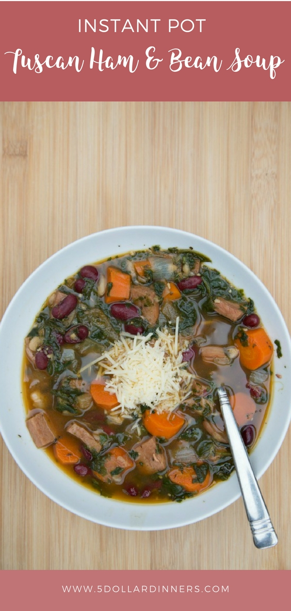 instant pot tuscan ham and bean soup