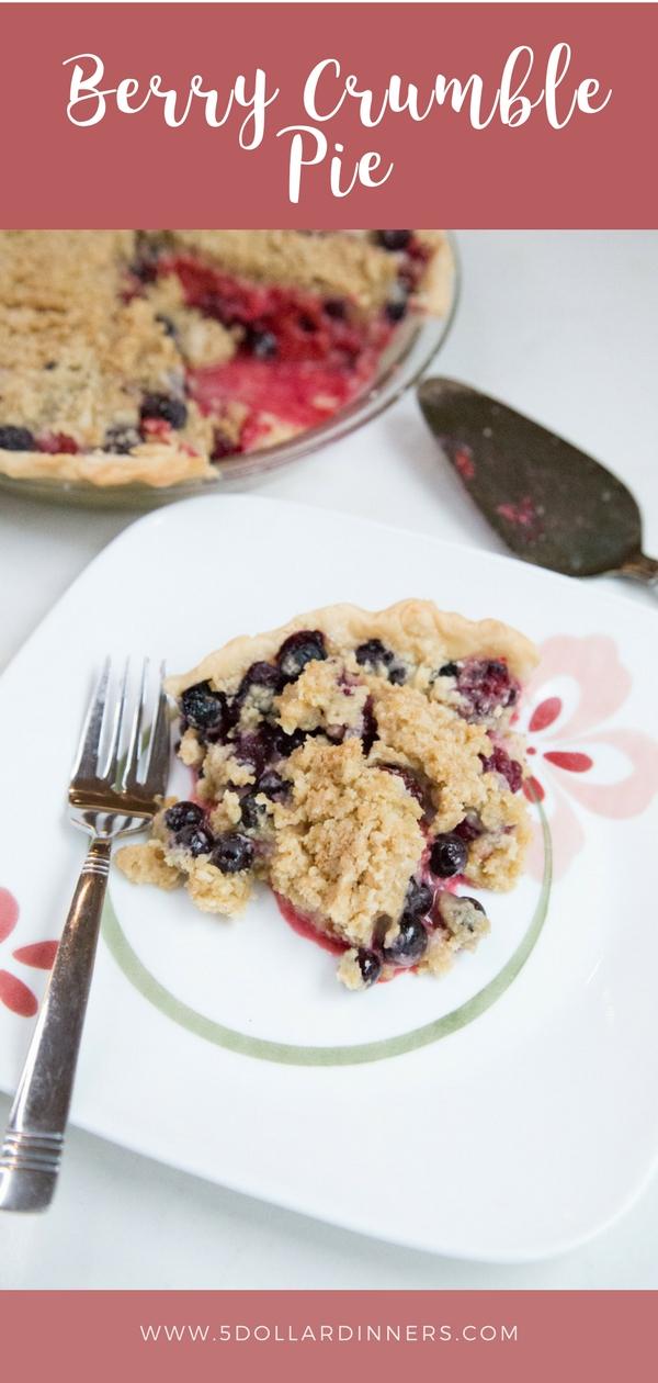 Delicious Berry Crumble Pie