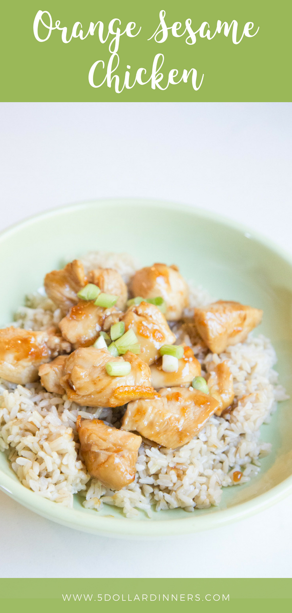 Orange Sesame Chicken, the perfect fake out of take out on 5 Dollar Dinners!!!