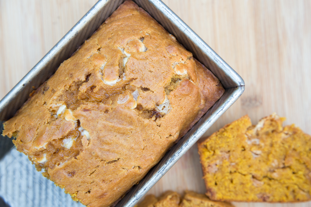 Fall is just around the corner and this amazing baking recipe will be a winner! White Chocolate Pumpkin Bread is the perfect breakfast, snack or dessert to add to your menu! Find it all on 5 Dollar Dinners!!!