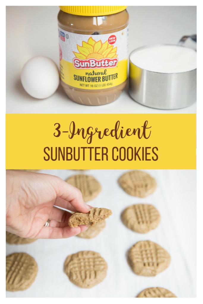 3 ingredient sunbutter cookies