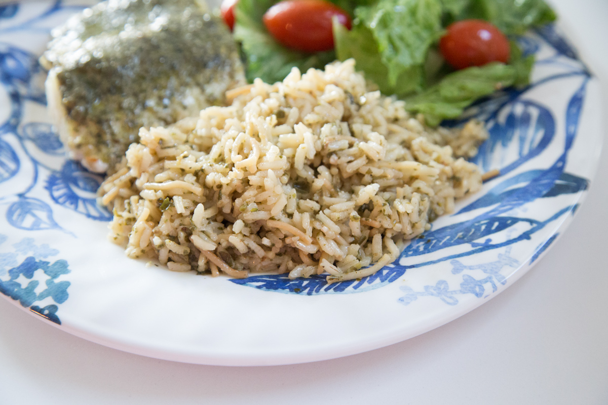 Pesto Pilaf is the perfect side dish for any entree | 5 Dollar Dinners