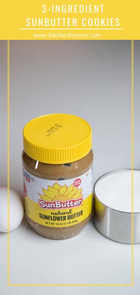 3-ingredient sunbutter cookies