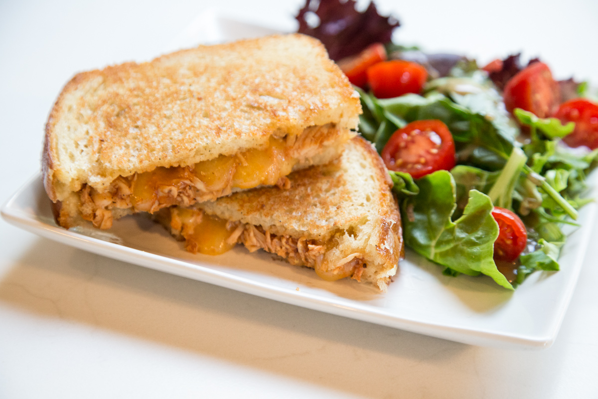 Put a twist on that plain Grilled Cheese and try the BBQ Chicken-White Cheddar Grilled Cheese!   5 Dollar Dinners