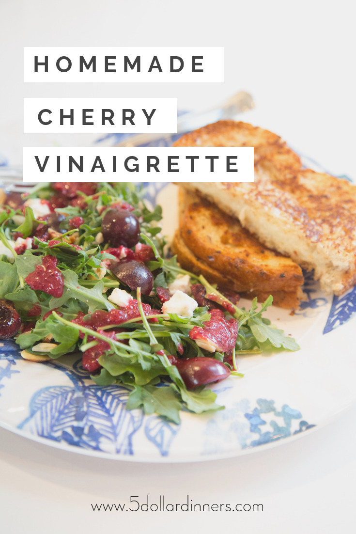 Jazz up your next salad with this easy, tasty homemade cherry vinaigrette dressing!