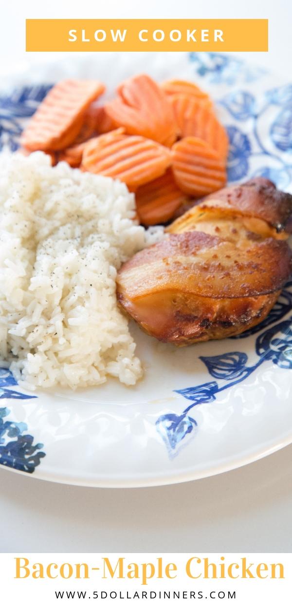 slow cooker bacon maple chicken recipe
