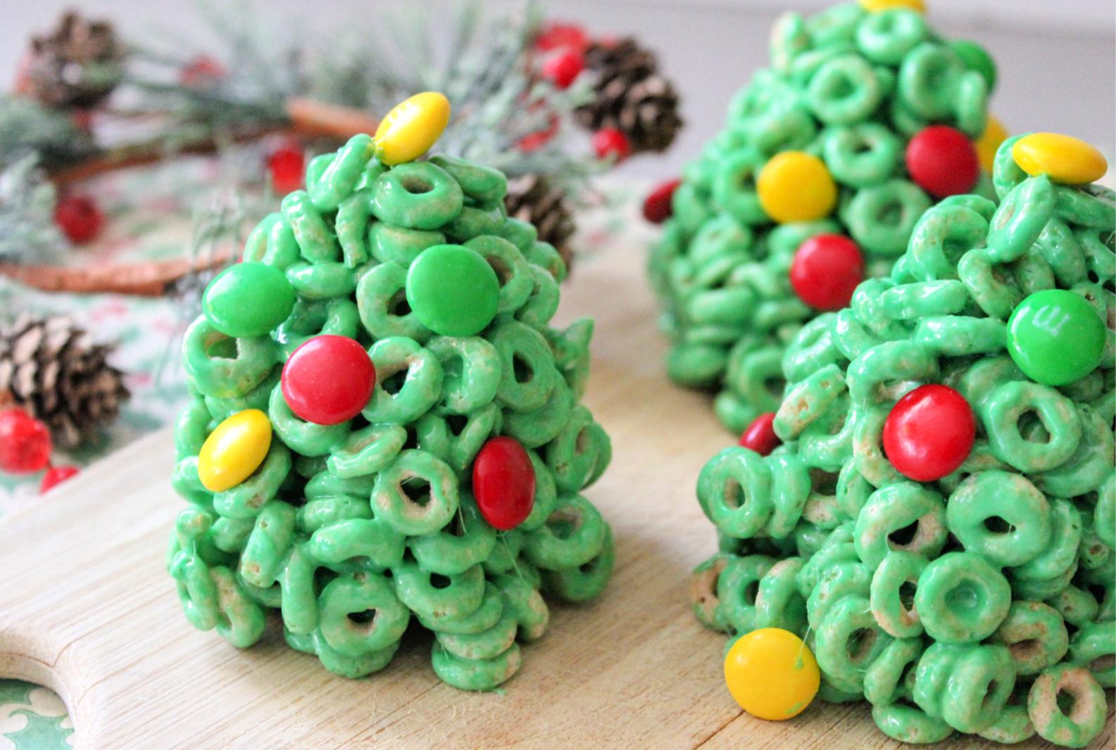 Cheerios Christmas Trees Recipe from 5DollarDinners.com