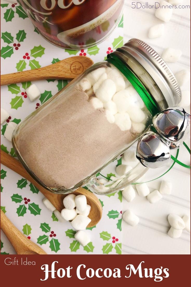 Hot Cocoa Mugs Gift Ideas from 5DollarDinners.com