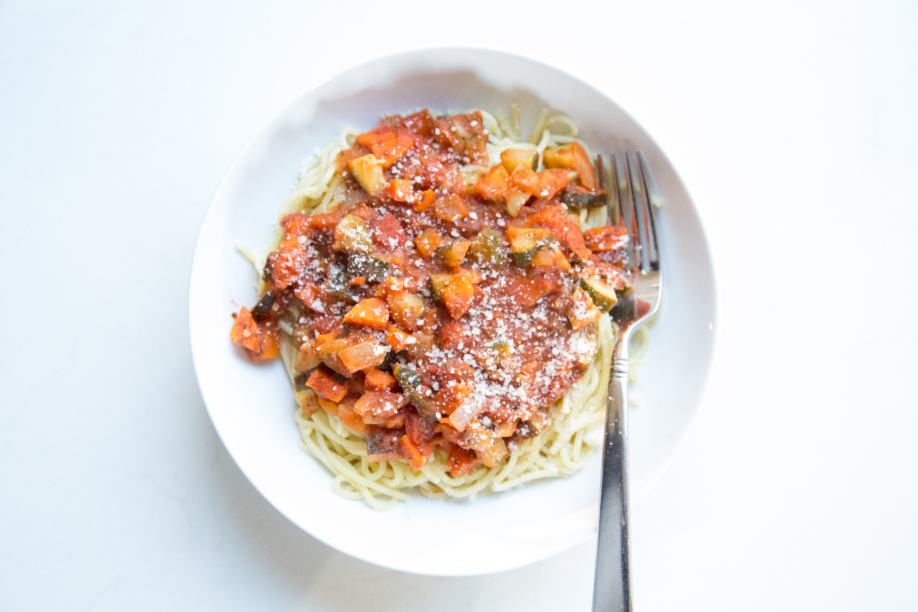 vegetable ragu with pasta