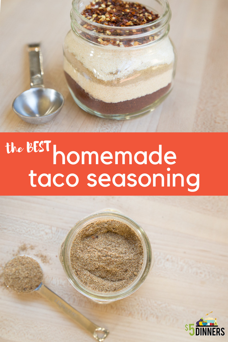 Best Homemade Taco Seasoning Recipe 5 Dinners