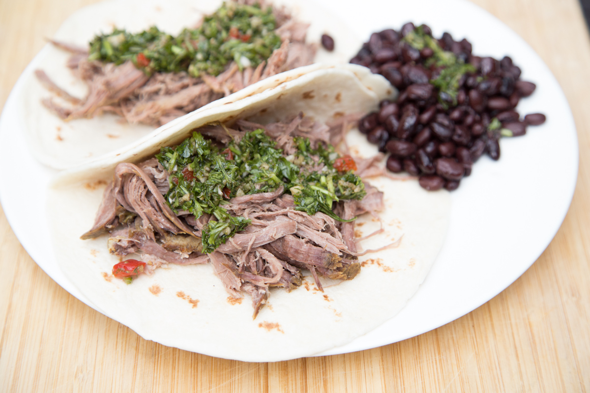 Quick and easy recipe for Instant Pot Chimichurri Beef Tacos