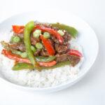 Easy weeknight skillet dinner - pepper steak stir-fry!