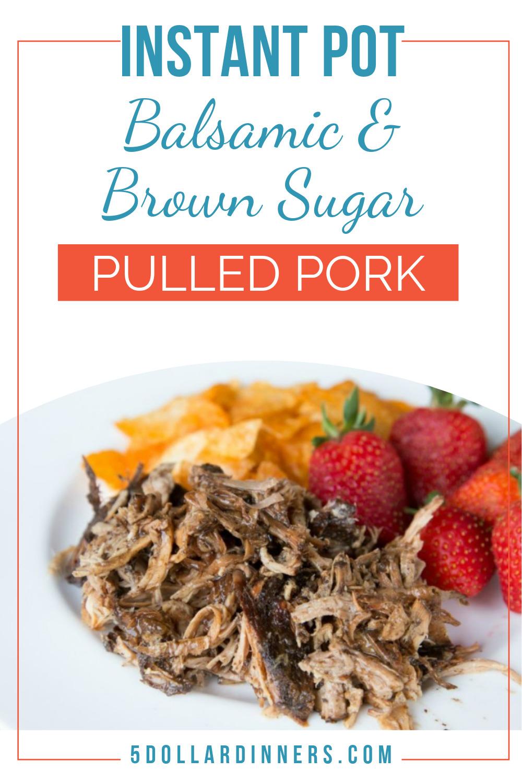 instant pot balsamic & brown sugar pulled pork