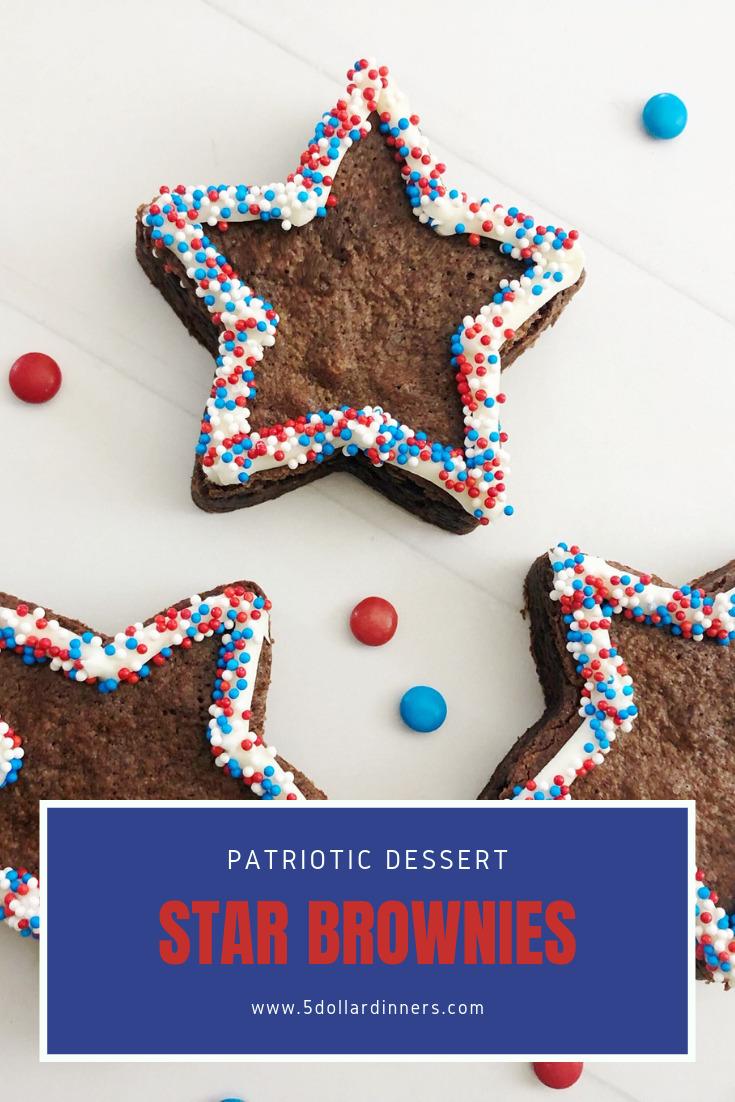 patriotic star brownies