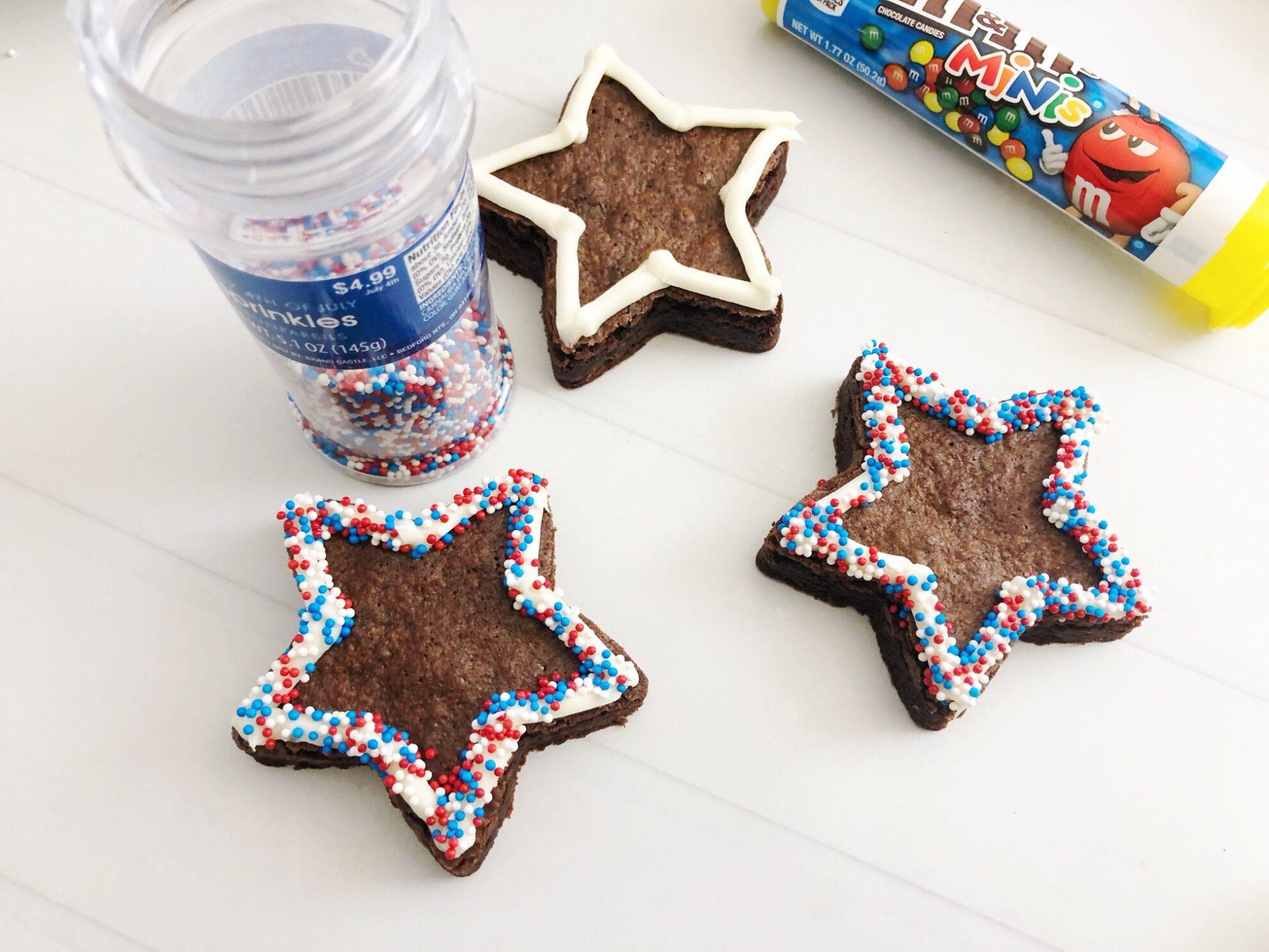 Star-Shaped Brownies - Patriotic Dessert