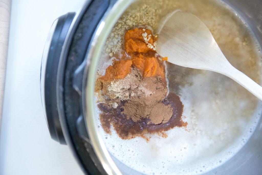 Instant Pot Pumpkin Spice Oatmeal Recipe