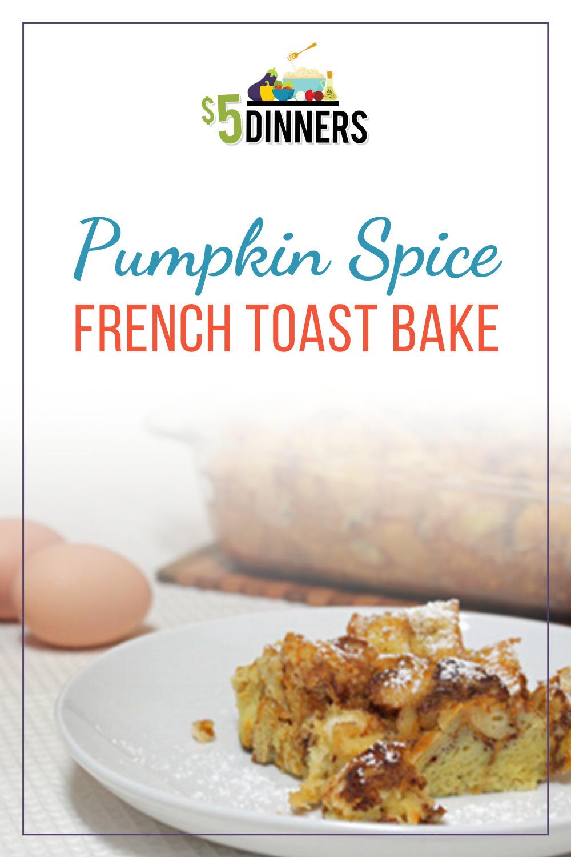 pumpkin spice french toast bake
