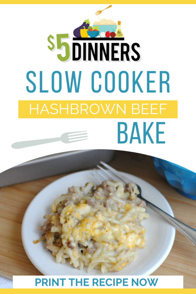 Slow Cooker Hashbrown Beef Bake