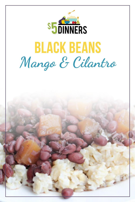 black beans with mango & cilantro