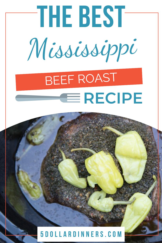 slow cooker mississippi beef roast
